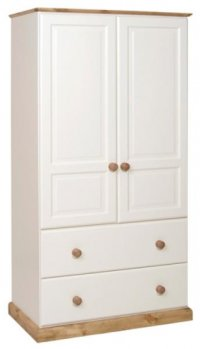 2 Deep Drawer Double Wardrobe