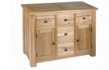 Plum Compact 5 Drawer Sideboard - Light