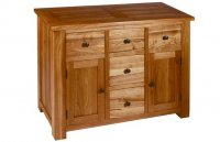 Plum Compact 5 Drawer Sideboard - Nuit