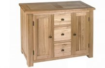 Plum Compact 3 Drawer Sideboard - Light